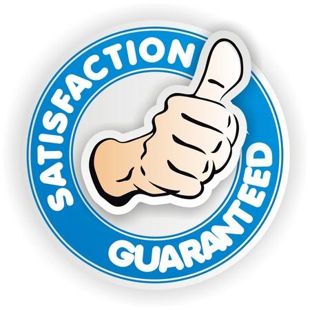 satisfaction blue sign Stock fotó - 13450909