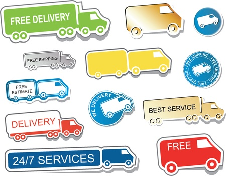 Stickers delivery Illustration