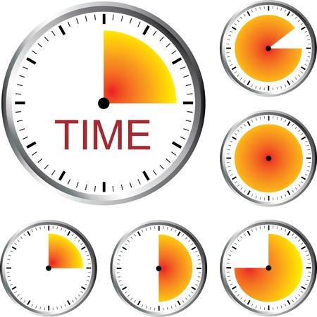 Clock Series Vector Illustration