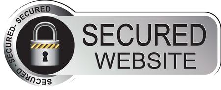 secured: Secured Website Sticker Silver