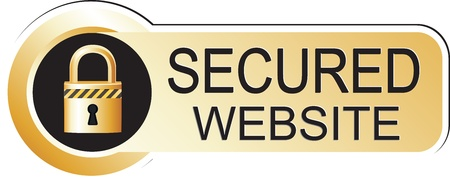 secured: Secured Website Sticker Gold