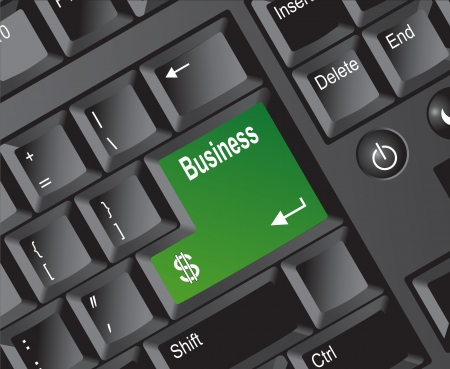 Keyboard Series Business Green Stock Photo