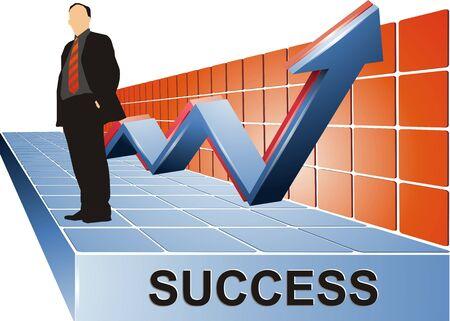 Success Business Stand Banque d'images