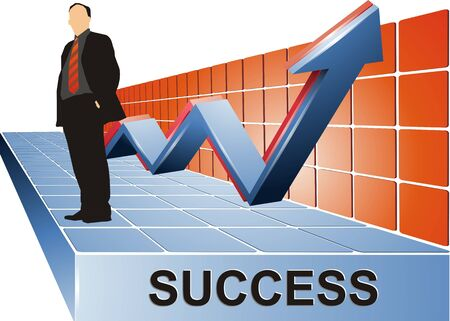 Success Business Stand Stock Photo