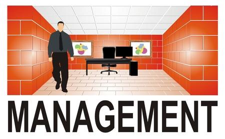Management 3D Banque d'images