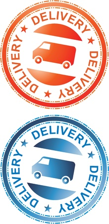 Delivery Sign Orange and Blue