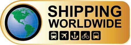 earth moving: Env�o mundial del oro Vectores