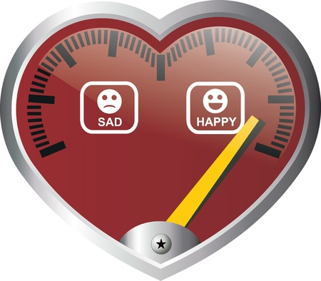 heart disease: heart meter Illustration