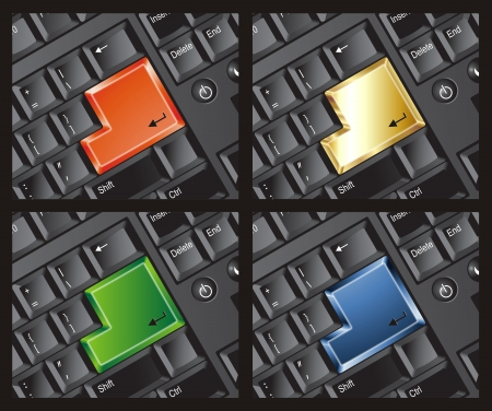 Keyboard Enter 4 colors template