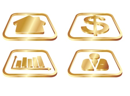 realstate: Business Gold Icons