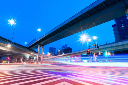 junction with light in shanghai photo