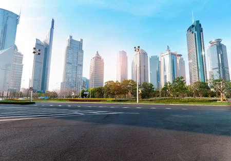 Die Allee Jahrhundert der Straßenszene in Shanghai Lujiazui, China.