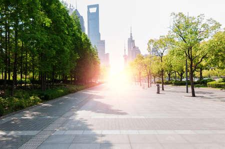China Shanghai Century Avenue streetscape Stock fotó
