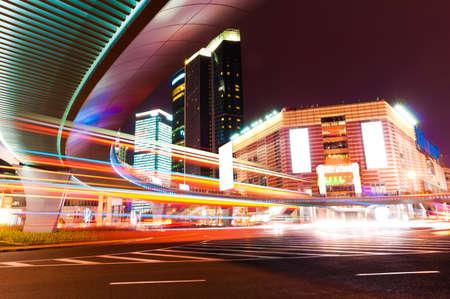 Shanghai Lujiazui Finance & Trade Zone modern city night