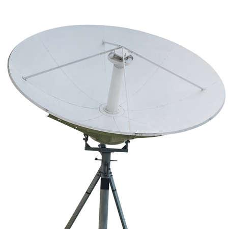 Satellite dish,Isolated on white