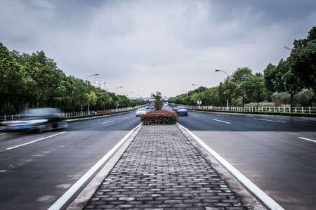 civil traffic in city Stock fotó