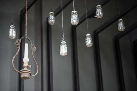 hanging lamp: hanging lamp in nice coffee shop
