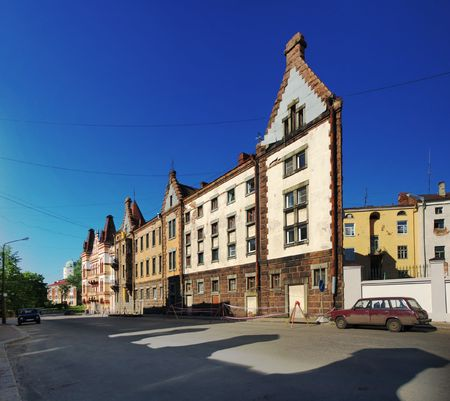 One wall house in Vyborg photo