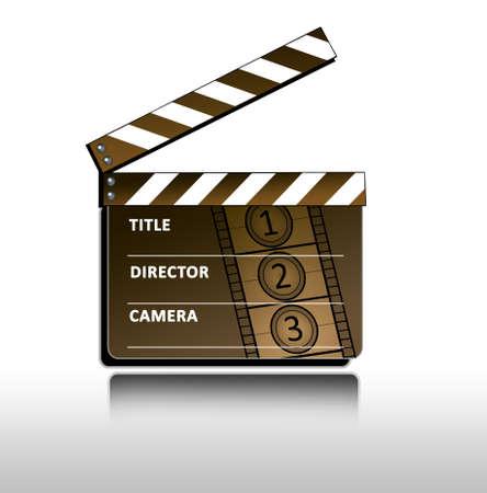 documentary: retro clapboard