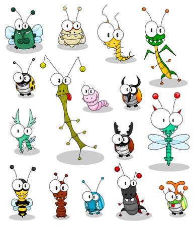 hormiga hoja: Insectos de dibujos animados