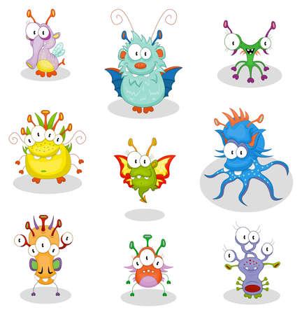 Monstruos de dibujos animados Vectores