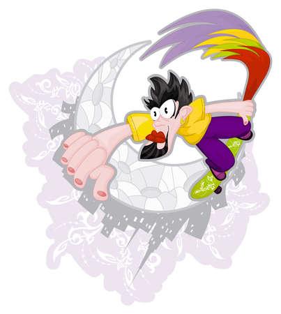 Cartoon skater Stock Vector - 8910867
