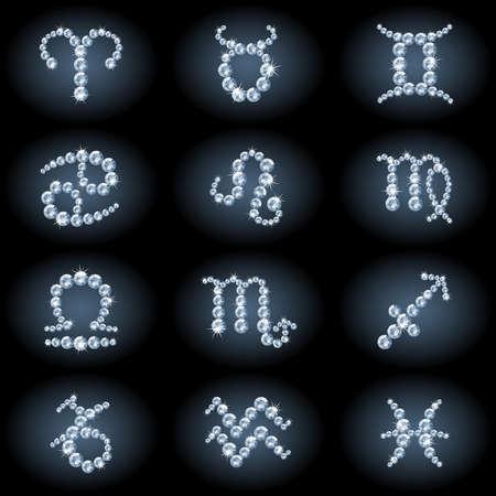 Diamond zodiac Vector