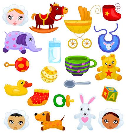 Conjunto de cosas del beb� Vectores