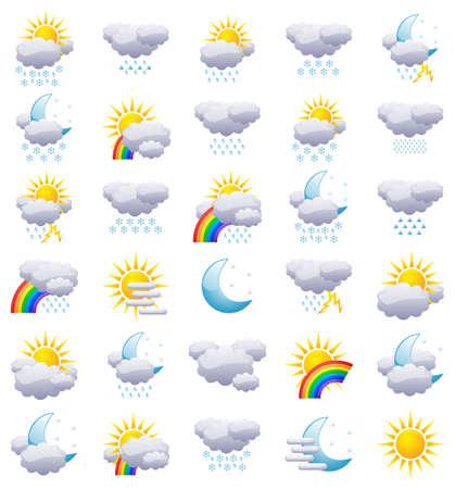 iconos del clima: Iconos de tiempo Vectores