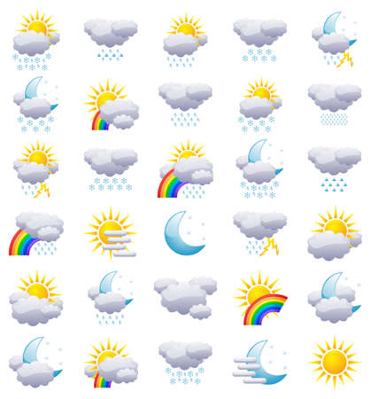Weather icons Stock Vector - 9050494
