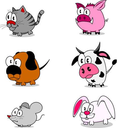 undomesticated cat: Cartoon animals