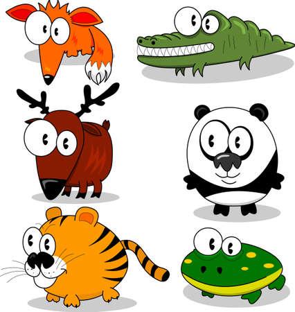 caricaturas de animales: Animales de dibujos animados
