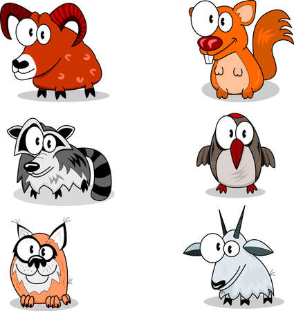 lynx: Cartoon zwierzÄ…t Ilustracja