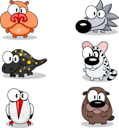 nutria caricatura: Animales de dibujos animados