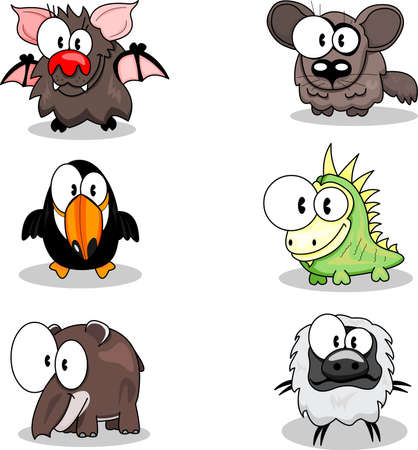 Cartoon animals Stock Vector - 9497097