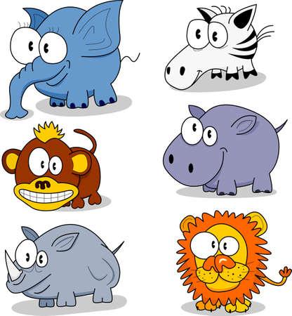 만화 동물 일러스트