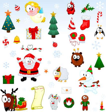 Colecci�n de s�mbolos de Navidad