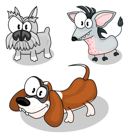 Cartoon dogs Stock Vector - 9497108