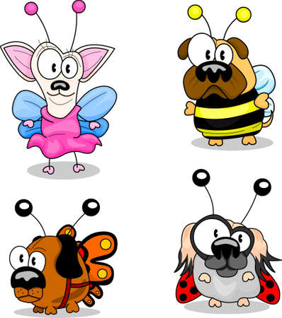 dog costume: Cartoon dogs