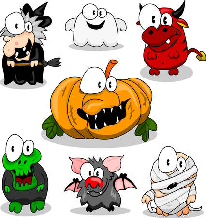 Collection of halloween creatures Stock Vector - 9497123