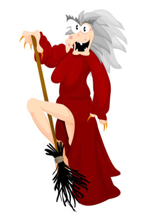Halloween witch - stripteaser Ilustrace