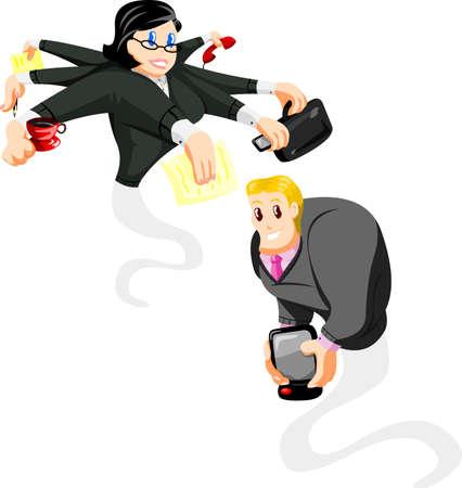 administrador de empresas: Caricatura Oficina genios