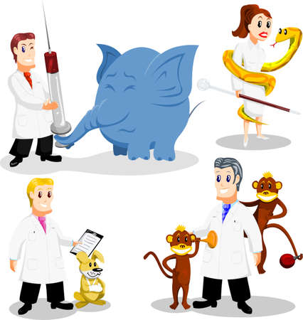 Cartoon vets Vector