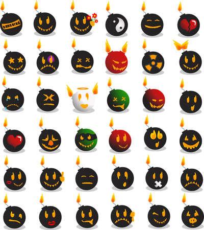Bomb emotions Stock Vector - 9682380