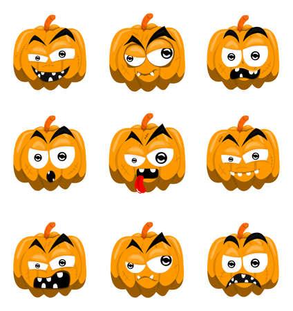 Dibujo animado calabazas de halloween