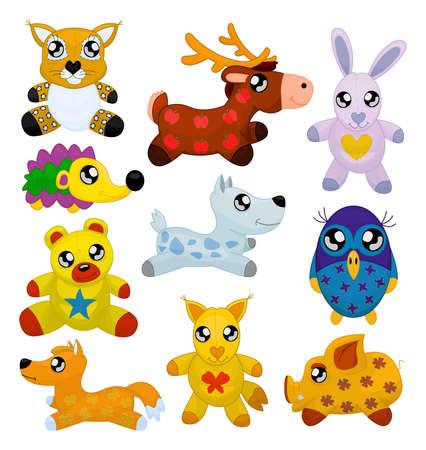 bobcat: Animales de juguete Vectores