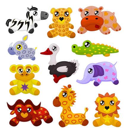 アフリカのおもちゃの動物