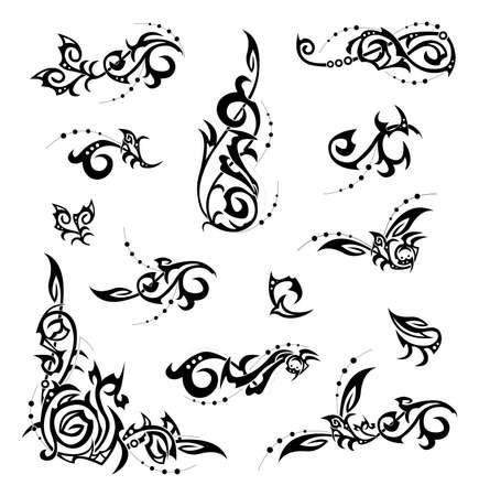 dessin tribal: �l�ments de conception abstraite