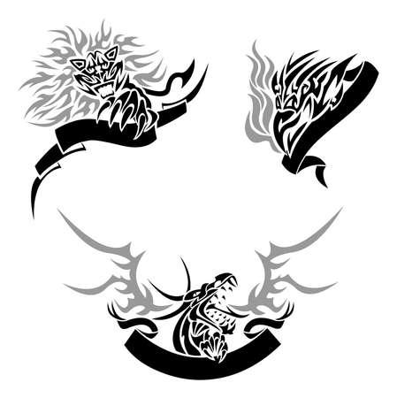 tatouage dragon: Tatouage avec les mod�les Illustration