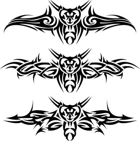 Abstract tattoos wasps Illustration